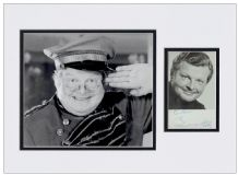 Benny Hill Autograph Signed Photo Display